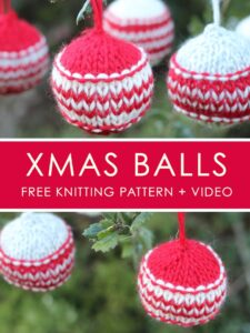 How to Knit Xmas Ball HOLIDAY ORNAMENTS | We Are Knitters