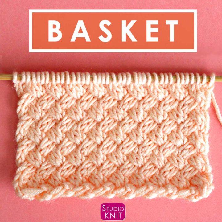 Knit the Diagonal Basket Weave Stitch Pattern with free pattern