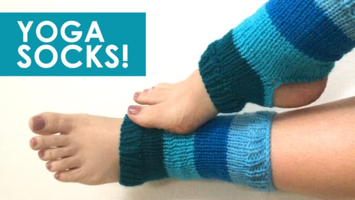 9f4e65f8fca How to Knit Yoga Socks with Free Knitting Pattern + Video Tutorial by  Studio Knit