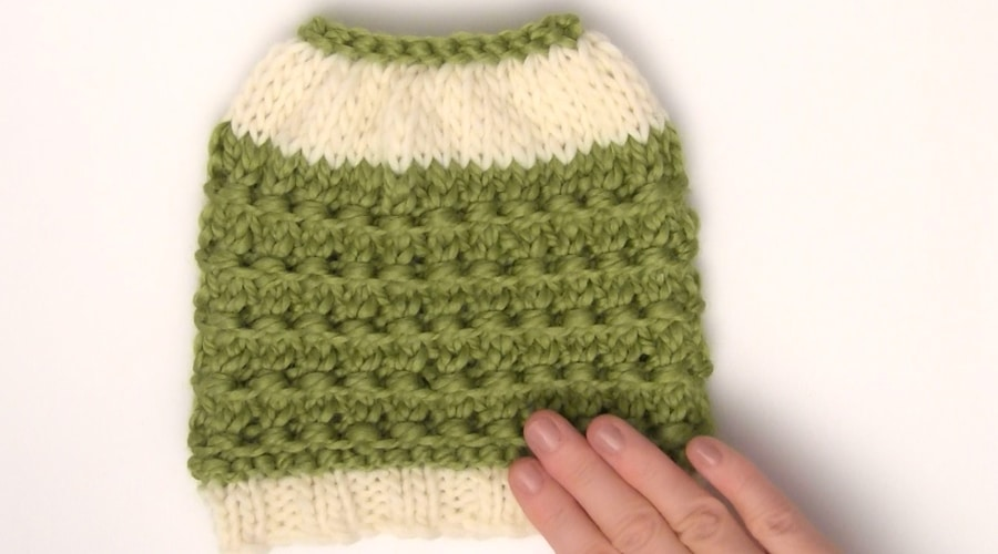 How to Knit a Messy Bun Hat Pattern in 7 Easy Steps with Video