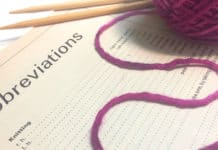 Knitting Abbreviations + Stitch Glossary by Studio Knit