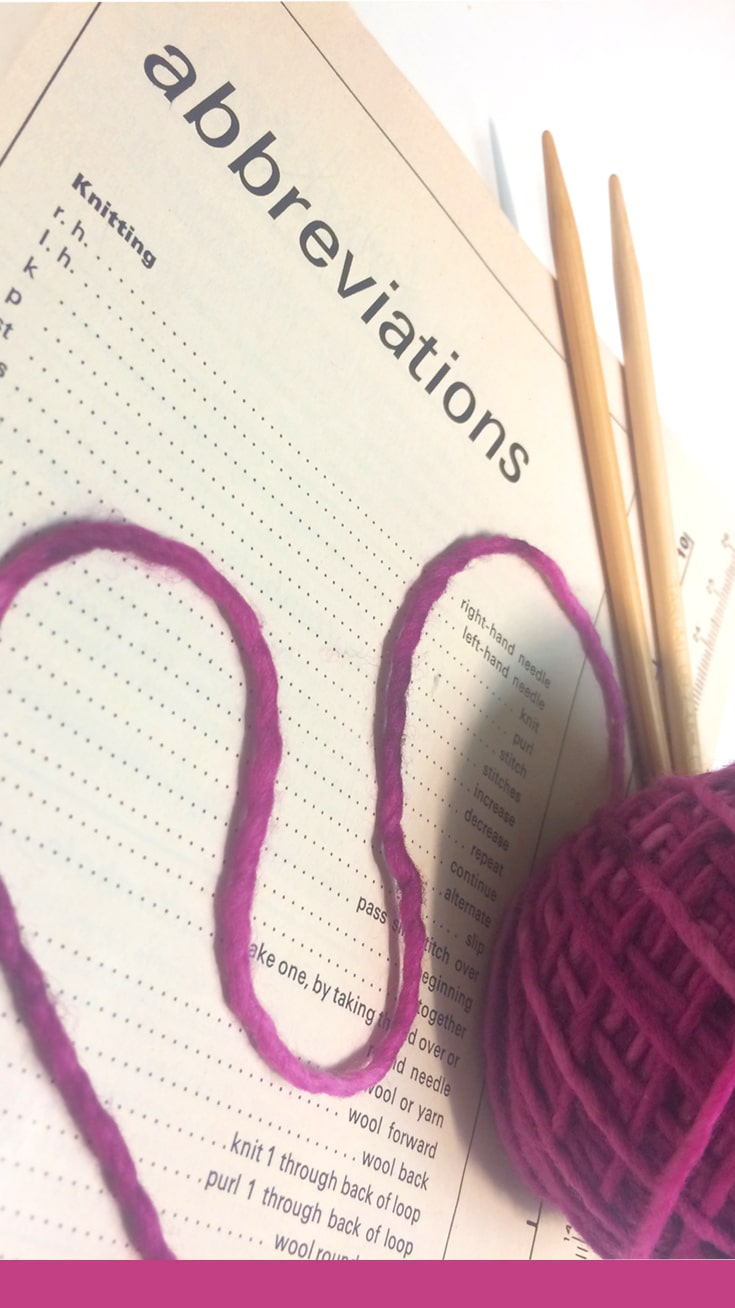 Knitting Abbreviations + Stitch Glossary | Studio Knit
