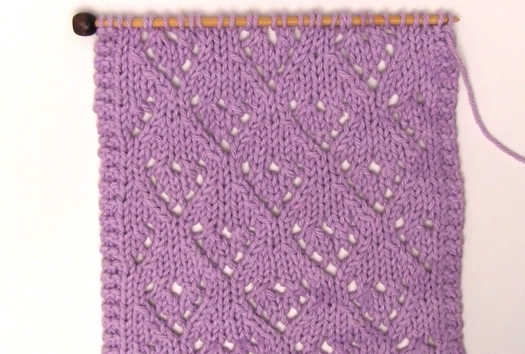 Mini Lace Heart Knit Stitch Pattern With Video Tutorial Studio Knit
