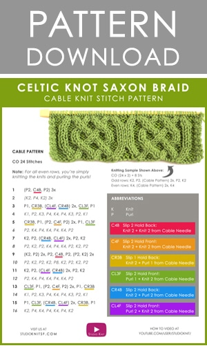 how to knit instructions printable