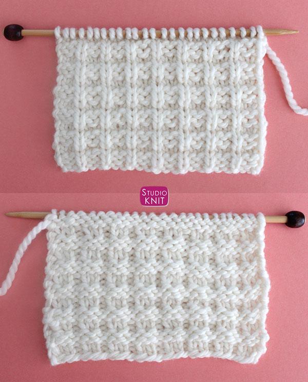 Waffle Stitch Knitting Pattern for Beginners | Studio Knit