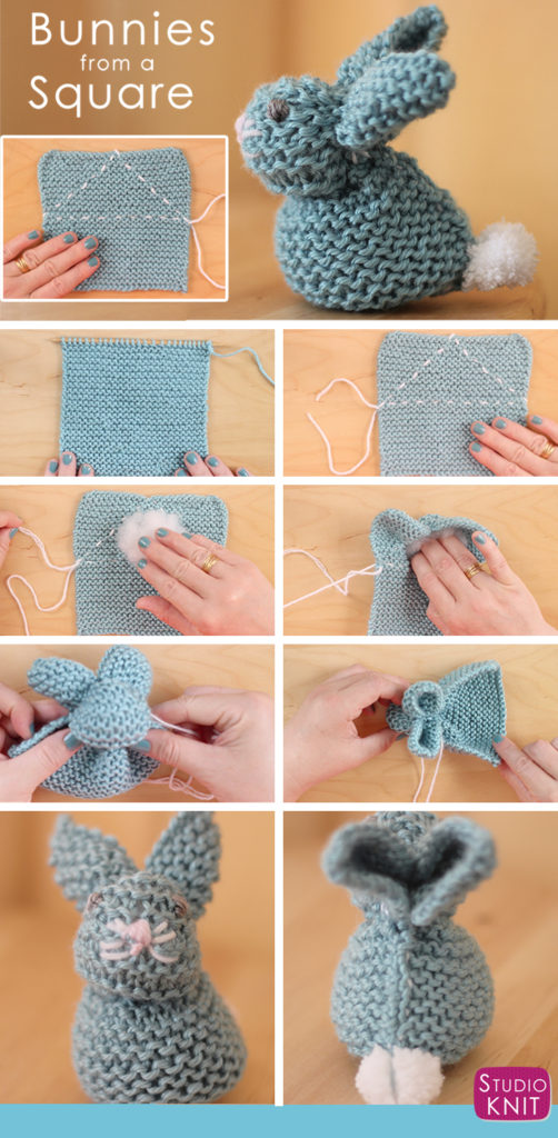 How to Knit a Bunny from a Square