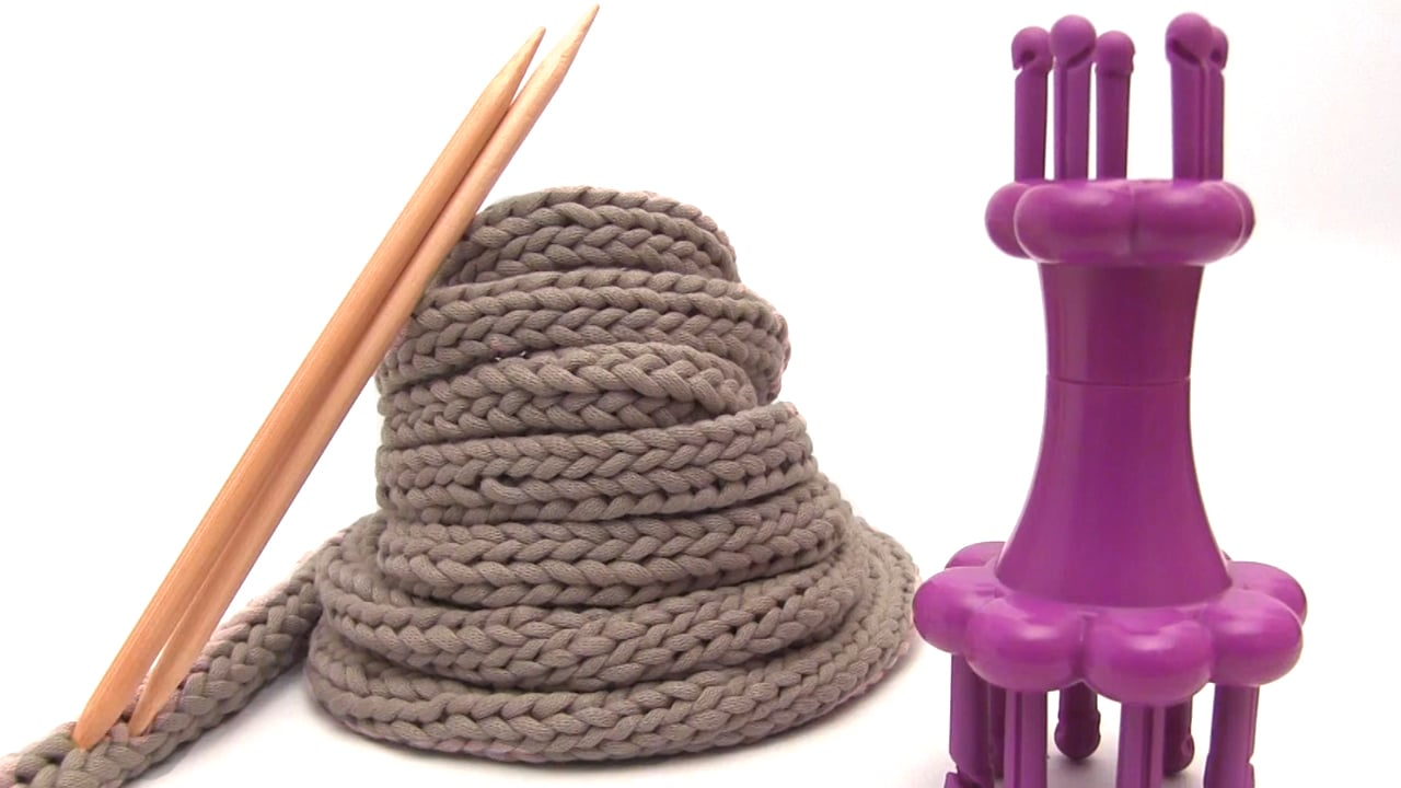 Spool Loom Knitting Patterns : Spool Knitting I-Cords on a Loom Studio Knit