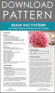Brain Hats Science March Studio Knit