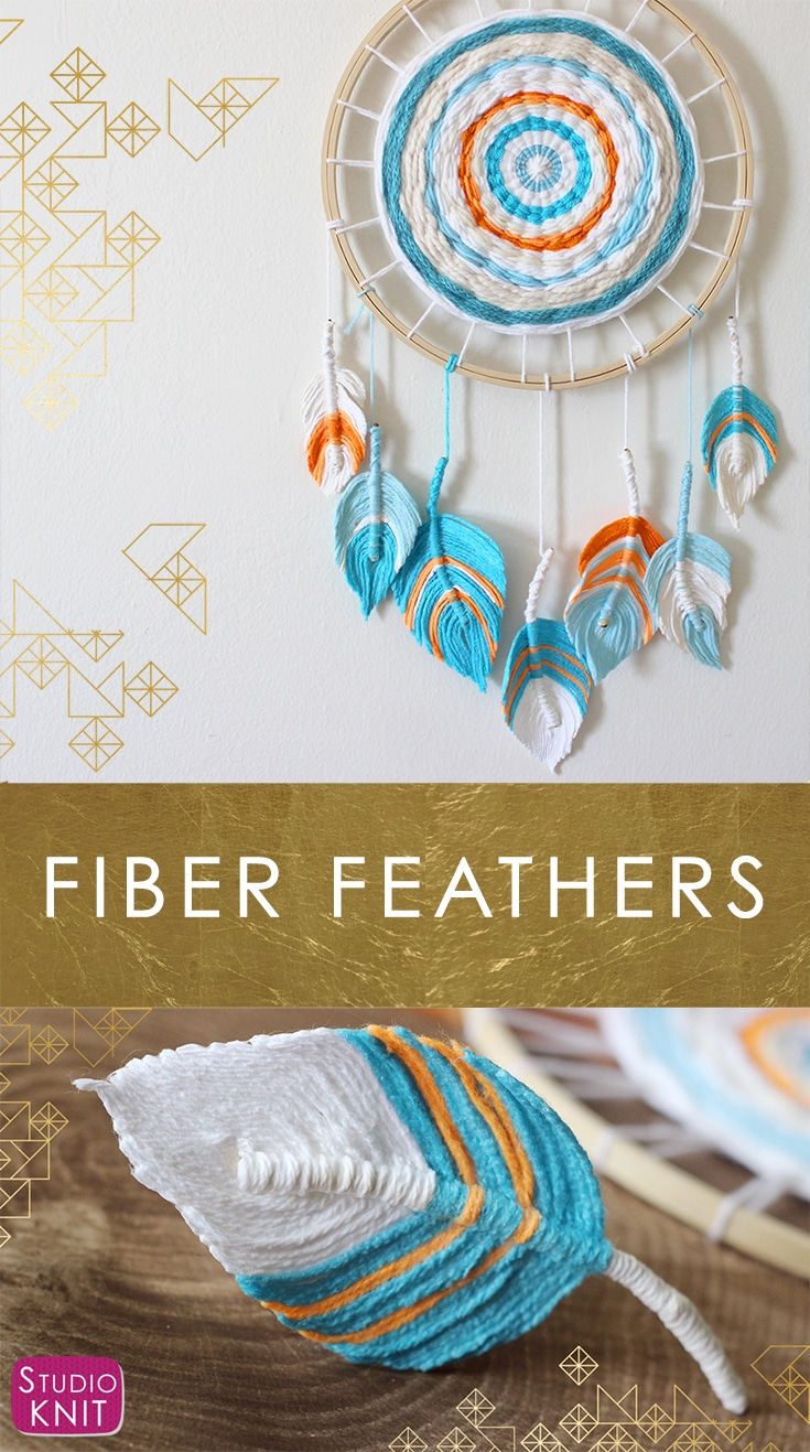 FIBER FEATHERS - A Fun Boho DIY Craft Everyone Can Make! Learn how to craft this easy project with Studio Knit.