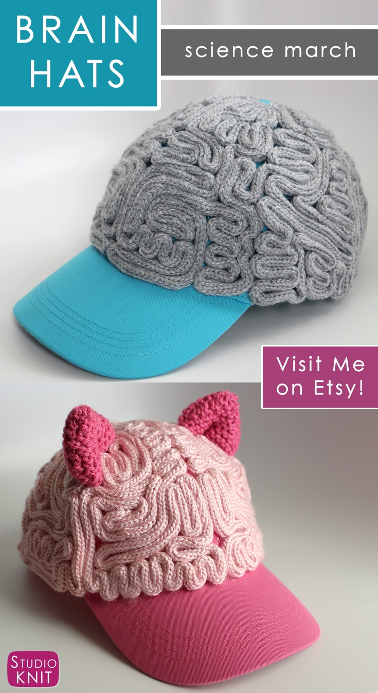 Buy a Brain Hat - March for Science - Studio Knit