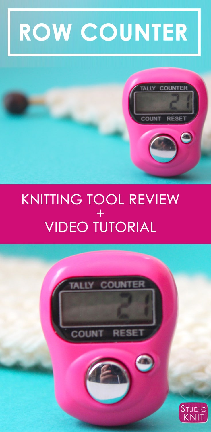 Knitting with a Digital Row Counter with Studio Knit