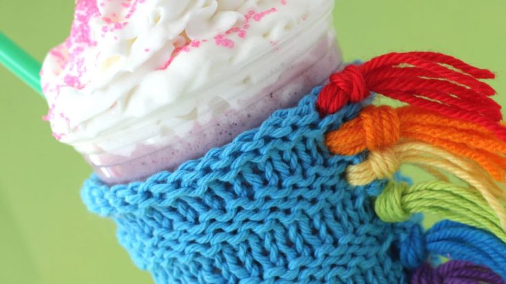 How to Knit a Unicorn Drink Cozy Pattern with Video Tutorial