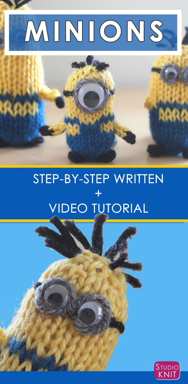 How to Knit a MINION Pattern with Video Tutorial | Studio Knit