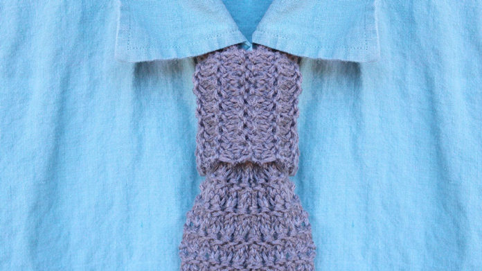 How to Knit a Granite Stitch Necktie by Studio Knit with Free Pattern and Video Tutorial