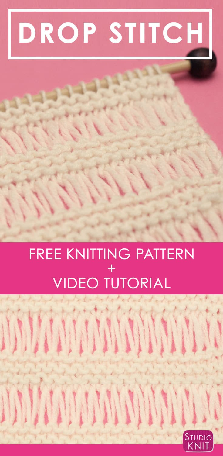 How to Knit the DROP STITCH GARTER Pattern with Studio Knit