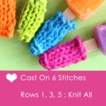 How to Knit POPSICLE COZIES with Free Knitting Pattern + Video Tutorial by Studio Knit