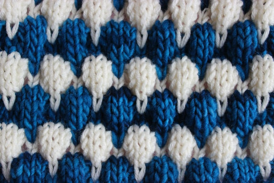 How to Knit the Bubble Stitch Pattern Studio Knit
