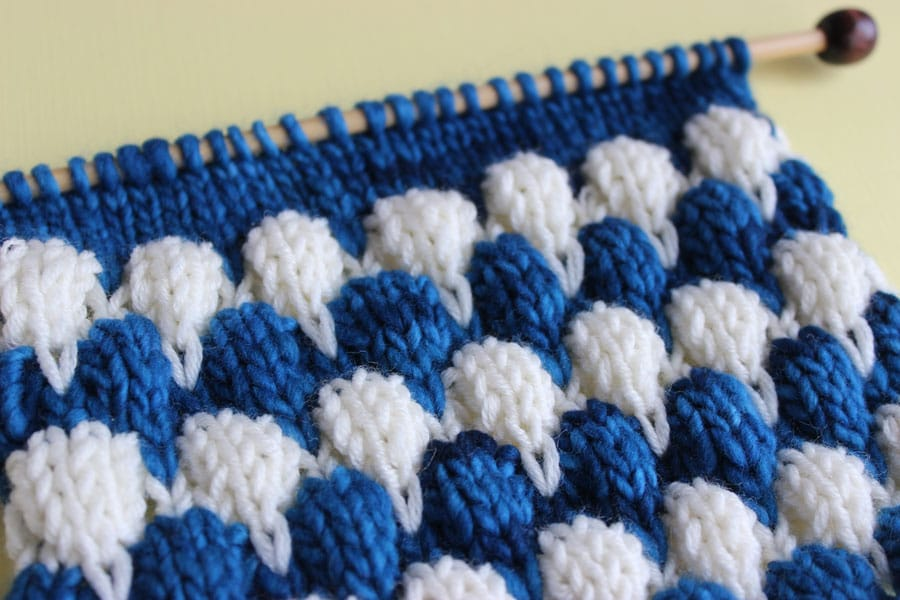 How to Knit the Bubble Stitch Pattern