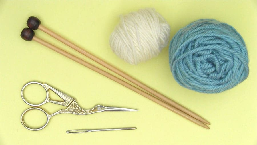 Materials Butterfly Knitting Pattern with Easy Free Pattern + Video Tutorial by Studio Knit