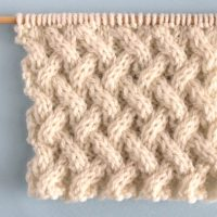 Lattice Cable Knit Stitch Pattern