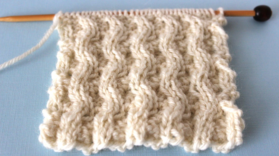 Wrong Side - How to Knit the Lattice Cable Stitch Pattern with free knitting pattern and video tutorial by Studio Knit