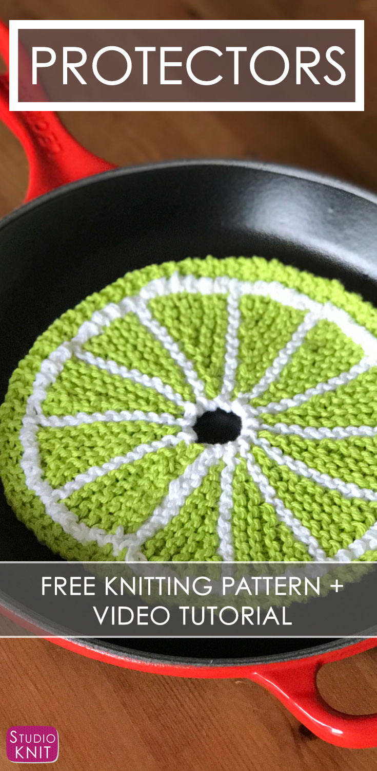 How to Knit Fruit Citrus Slices with Video Tutorial | Studio Knit