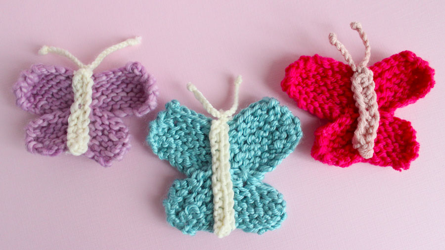 Butterfly Knitting Pattern With Video Tutorial Studio Knit