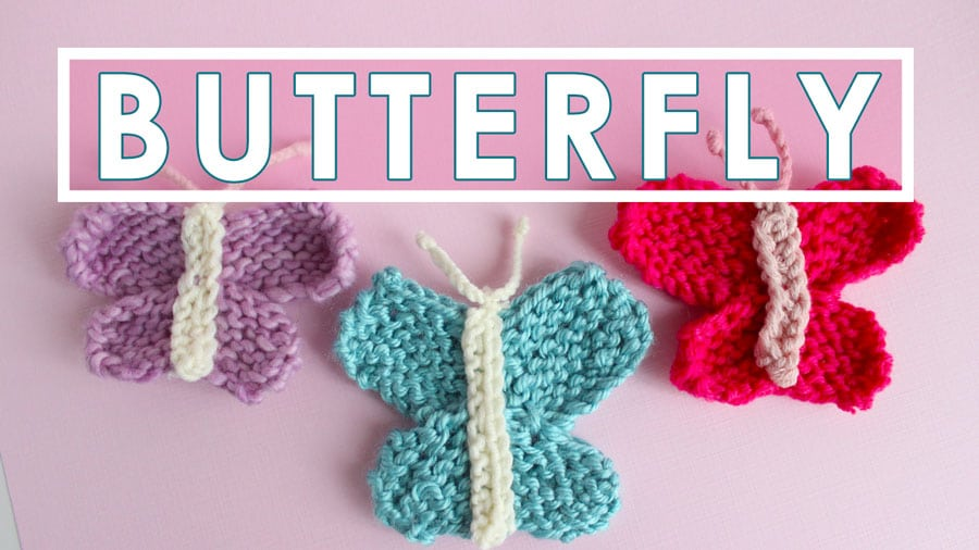 Knitting Pattern Butterfly : Butterfly knitting pattern studio knit