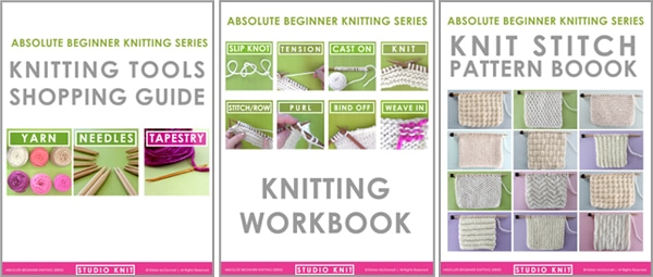 Studio Knit Downloadable Booklets