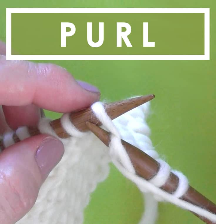 How To Purl Stitch Knitting Technique With Video Tutorial Studio