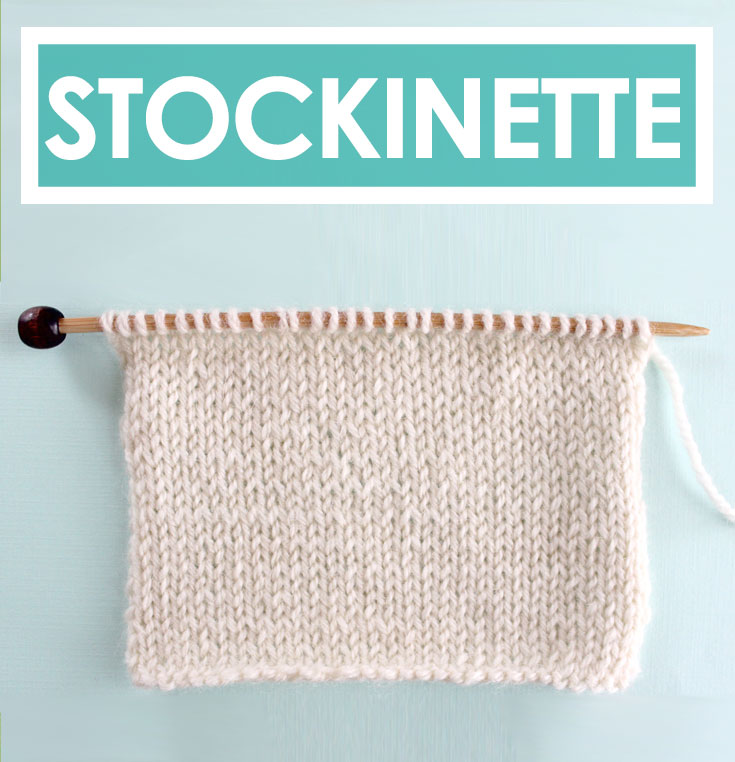 How To Knit The Stockinette Stitch Pattern With Video Tutorial