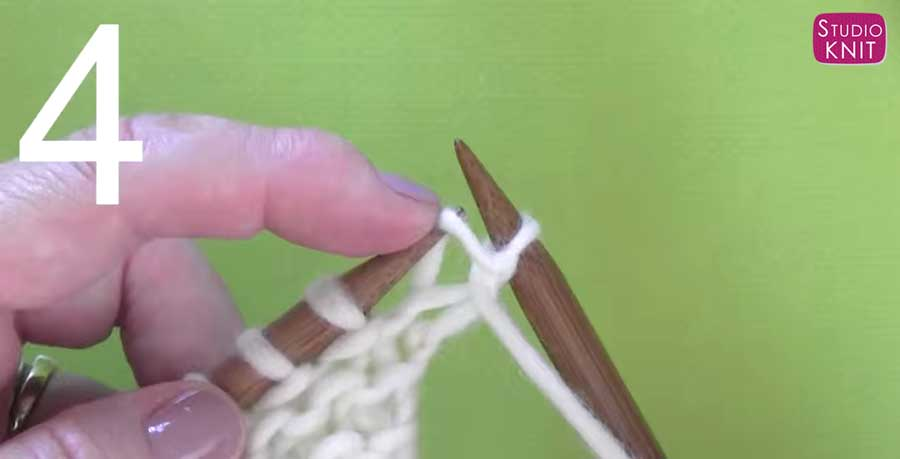 How to Purl Stitch: Step 4