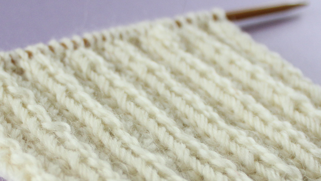 2x2 RIB STITCH PATTERN Learn EASY KNIT AND PURL STITCH PATTERNS in the Absolute Beginner Knitting Series by Studio Knit