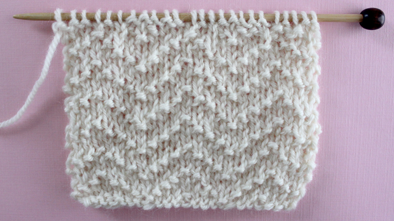 CHEVRONSTITCH PATTERN Learn EASY KNIT AND PURL STITCH PATTERNS in the Absolute Beginner Knitting Series by Studio Knit