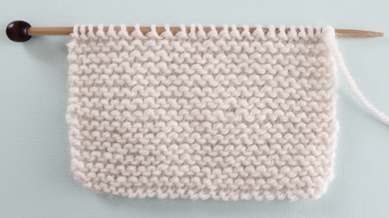 GARTER STITCH PATTERN Learn EASY KNIT AND PURL STITCH PATTERNS in the Absolute Beginner Knitting Series by Studio Knit