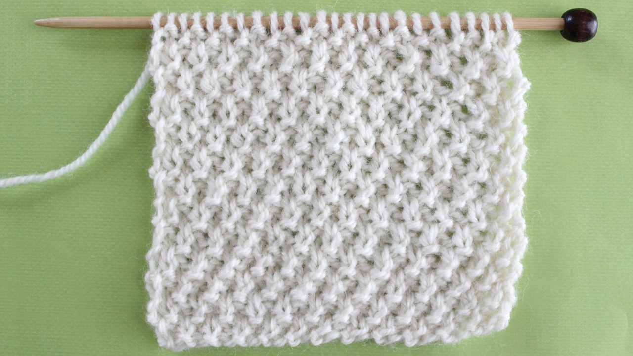 IRISH MOSS STITCH PATTERN Learn EASY KNIT AND PURL STITCH PATTERNS in the Absolute Beginner Knitting Series by Studio Knit