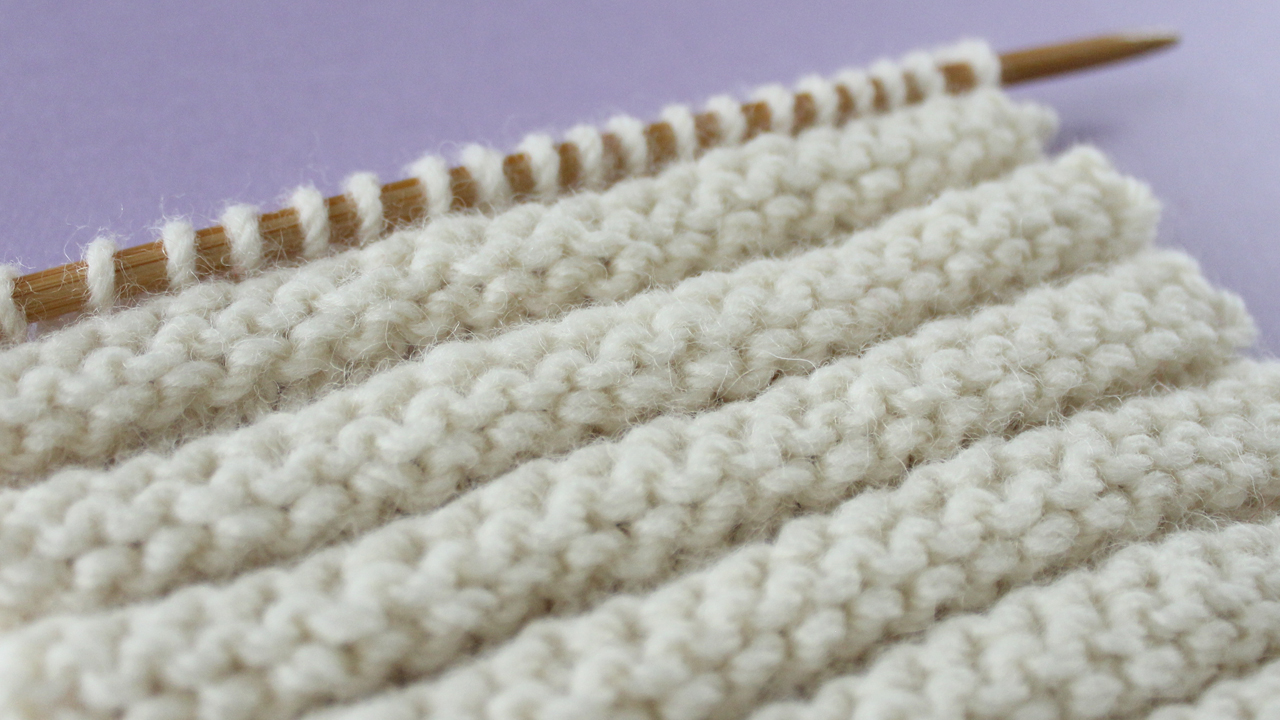REVERSE RIDGE STITCH PATTERN Learn EASY KNIT AND PURL STITCH PATTERNS in the Absolute Beginner Knitting Series by Studio Knit