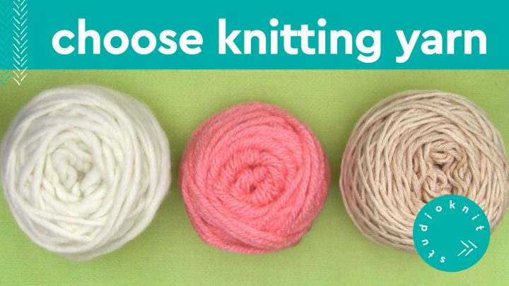 Choose Knitting Yarn with 3 balls in white, pink, and beige colors