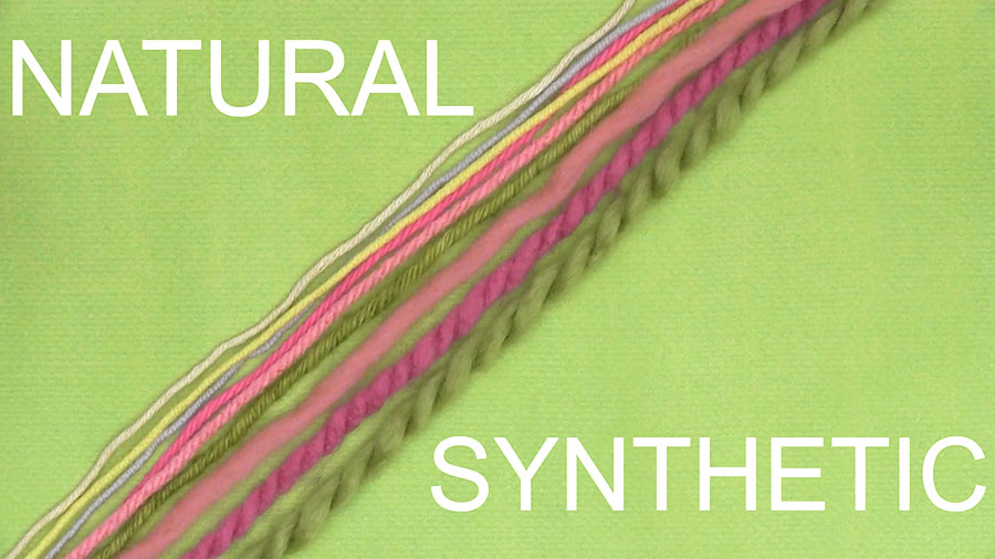 Natural vs Synthetic Yarn - How to Select Yarn to Start Knitting in the Absolute Beginner Knitting Series by Studio Knit