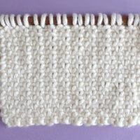 Linen Stitch Knitting Pattern and Video Tutorial