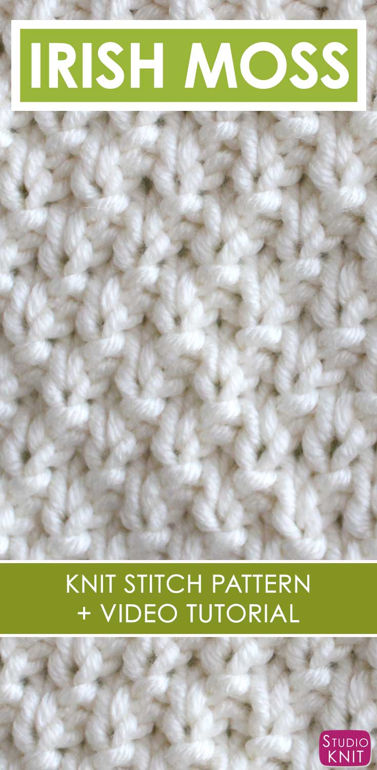 How To Knit The Irish Moss Knit Stitch Pattern With Video Tutorial