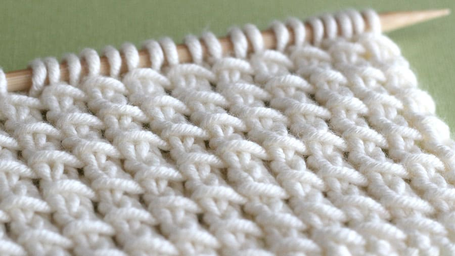 Bamboo Stitch Knitting Pattern Studio Knit