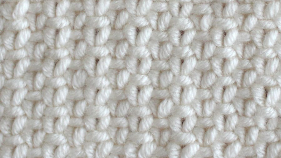 RIGHT SIDE How to Knit the Linen Stitch with Free Written Pattern and Video Tutorial by Studio Knit.