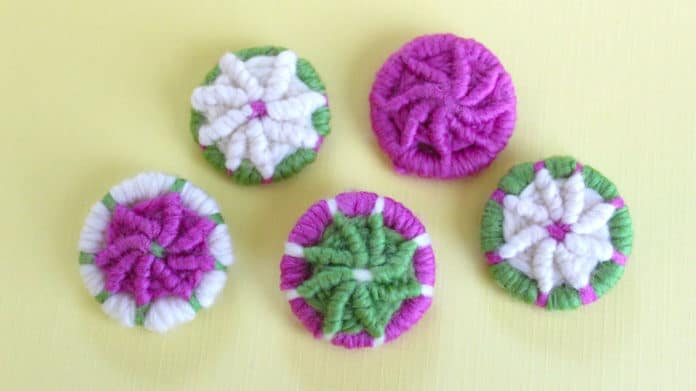ab25ae67a94e How to Craft YARN DORSET BUTTONS with instructional video tutorial by  Studio Knit