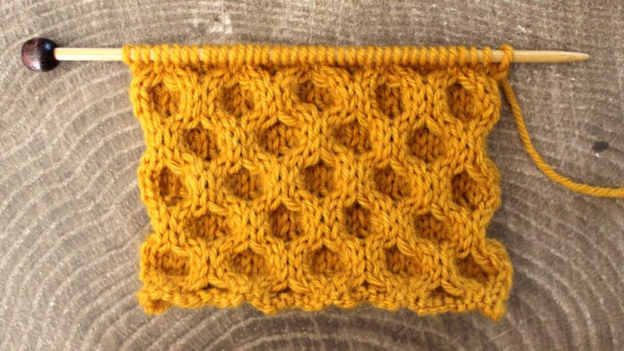 How To Knit The Honeycomb Cable Stitch Pattern With Video Tutorial