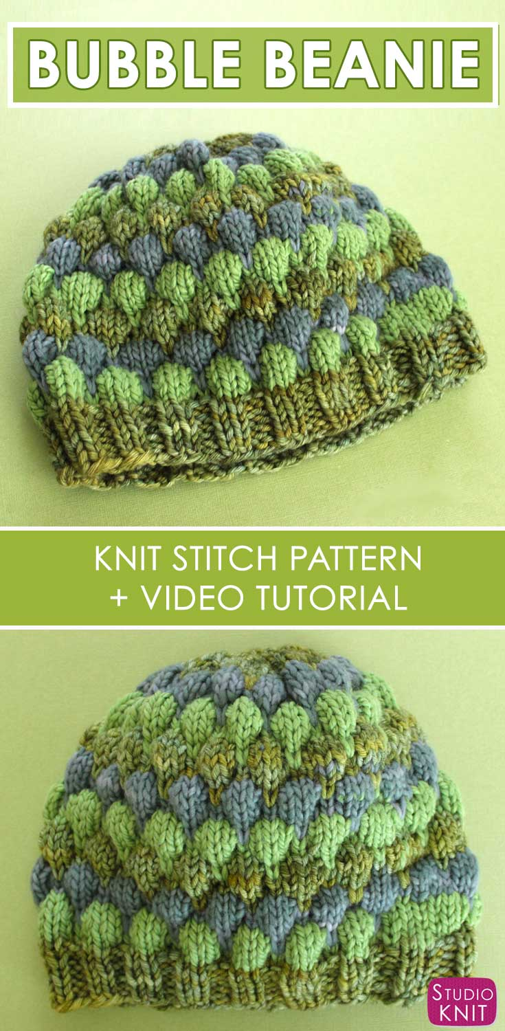 Bubble beanie hat knitting pattern studio knit bubble beanie hat with free pattern and video tutorial by studio knit bankloansurffo Choice Image