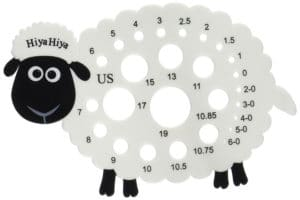 knitting needle gauge sheep hiyahiya