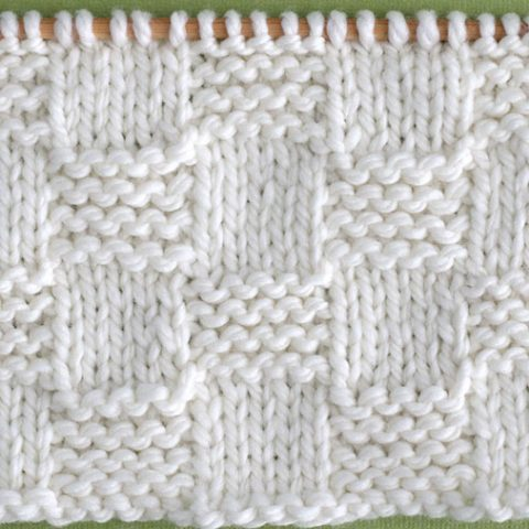 Garter Checkerboard Stitch Printable Knitting Pattern