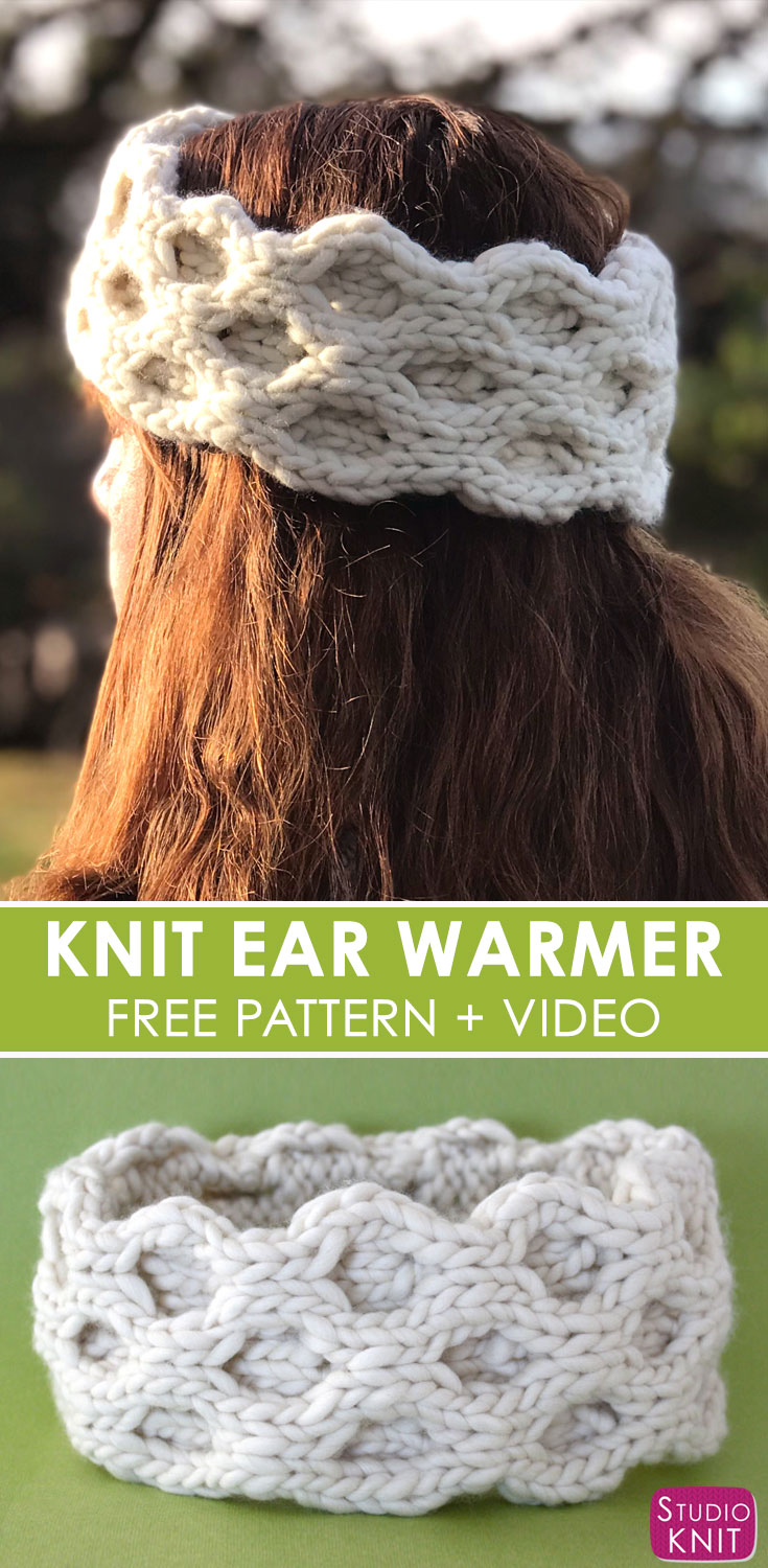 I love making Quick Knit Cable Ear Warmer Accessories from the simple  Honeycomb Stitch with Free 9c6e94551b6