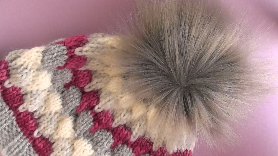 KNITTED HAT TOPPER How to Make a Faux Fur Pom-Pom with Studio Knit | DIY Craft